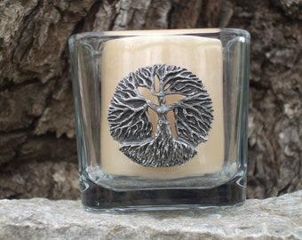 Daphne tree candle holder. Earth Goddess Greek mythology sculpture hand crafted pewter