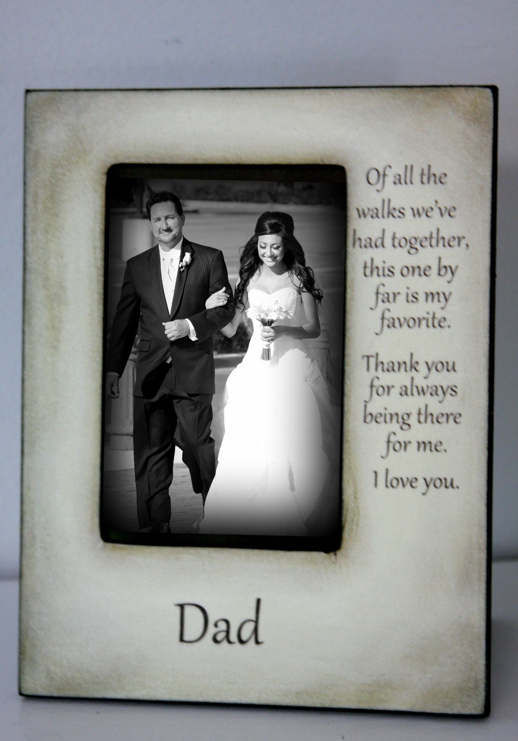 Wedding Gift For Father Remarrying : Father Daughter Wedding Frame Bride Walk down the aisle