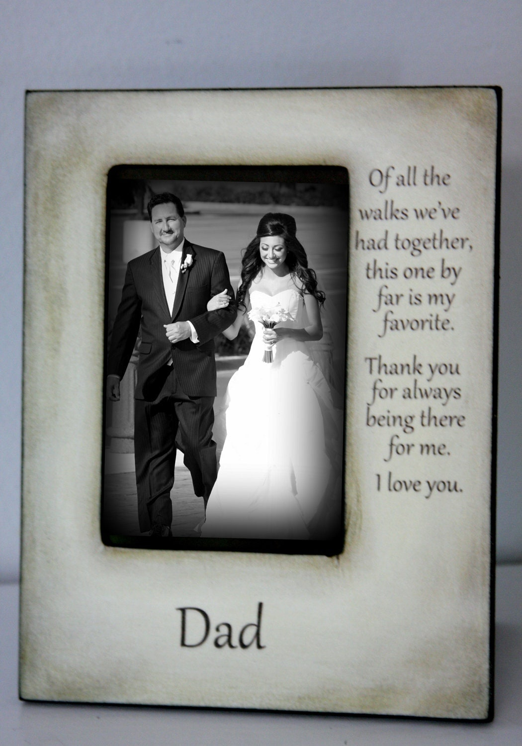 Father Daughter Wedding Frame Bride Walk Down By