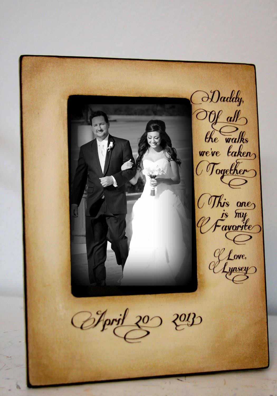 Wedding picture frame father daughter wedding by desilucollection
