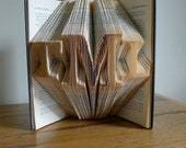 Wedding present -  Personalized Gifts - Monogrammed - Gifts for Men - Gift for Her -  Gift for Boss - Custom -  Folded Book Sculpture -