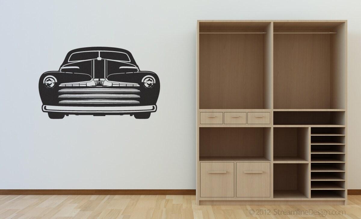 Man Cave Vinyl Wall Art : Huge hot rod roadster man cave vinyl wall art no car