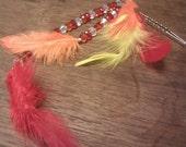 Phoenix Feather Hair Stick. OOAK