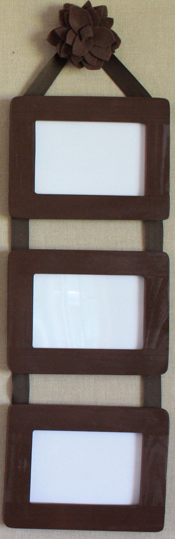 Ribbon Hanging Picture Frames Set of 3 by