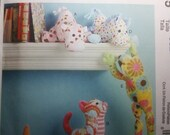McCall's Craft Pattern M6485 Hippo, Cat, Dog, Horse, and Frog Plush