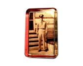 CUSTOM Armed Forces Photo Glass Paperweight - Army Air Force Marines Navy - Your Photo Here