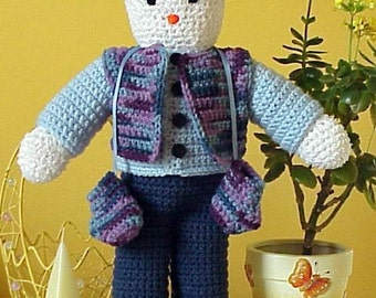 CROCHET PATTERN Easy Amigurumi Doll Snowman Frosty