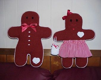 CROCHET PATTERN Doll Home Decor Christmas Gingerbread Boy AND Girl 2 Amigurumi Crochet Patterns