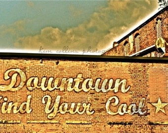 Downtown Find Your Coo,lFine Art Photography Print- Durham, North Carolina  Color-Urban-Art-Gift, Unique
