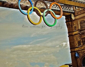 Olympic Rings on Tower Bridge-London,England-Fine Art Photography-multiple Sizes Available,Travel,London Bridge, Olympics,Olympic Rings