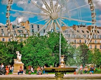 Fine Art Photography,Ferris Wheel at Tuileries Garden Paris,France,Paris,Architecture,Jardin de Tuileries,Ferris Wheel