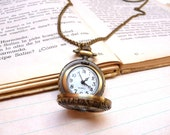 Romantic pocket watch necklace - Gift for her