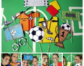 soccer photo booth props - personalized with your team colors- the ultimate fan accessory