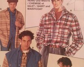Burda Shirt Vest Pattern Unopened Men's size 48
