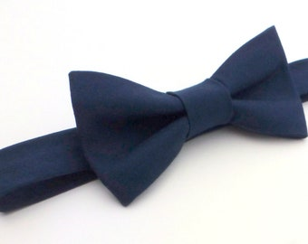 Boys Bow Tie- Navy Blue - Sizes newborn-adult