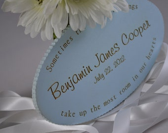 Personalized baby nursery sign / plaque for new baby, shower gift