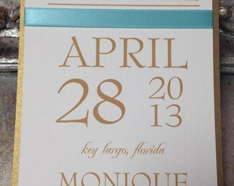 Wedding Save the Date Cards - Personalized choose YOUR COLOR - add PRINTED envelopes