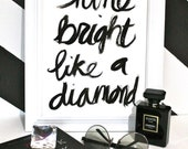 "BESTSELLER - The Original 9x12"" Shine Bright Like a Diamond - Gouache on 9x12"" 140 lb. paper"