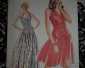 1995 Very Easy Very Vogue Skirt & Top Pattern Sizes 14 - 16 - 18 Very Easy to Make Uncut and in Factory Folds