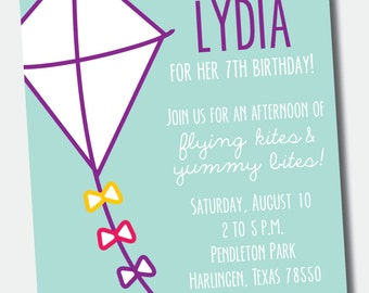 Kite Birthday Party Invitation