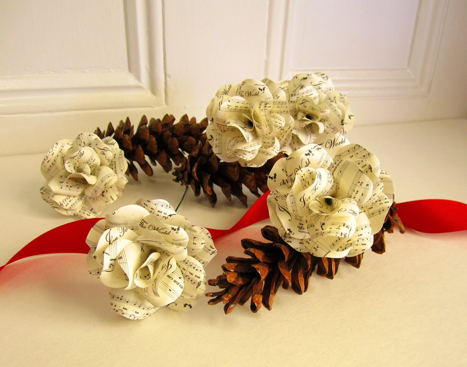 Christmas sheet music paper roses joy to the world set of 6 for Paper roses sheet music free