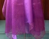 Purple Sheer Glitter Fairy Wrap Skirt
