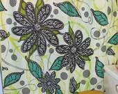 """Shower Curtain - """"Zebra Blooms"""""""