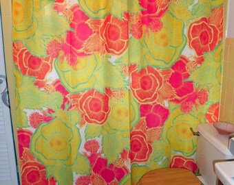 """Shower Curtain - """"May Poppies"""""""
