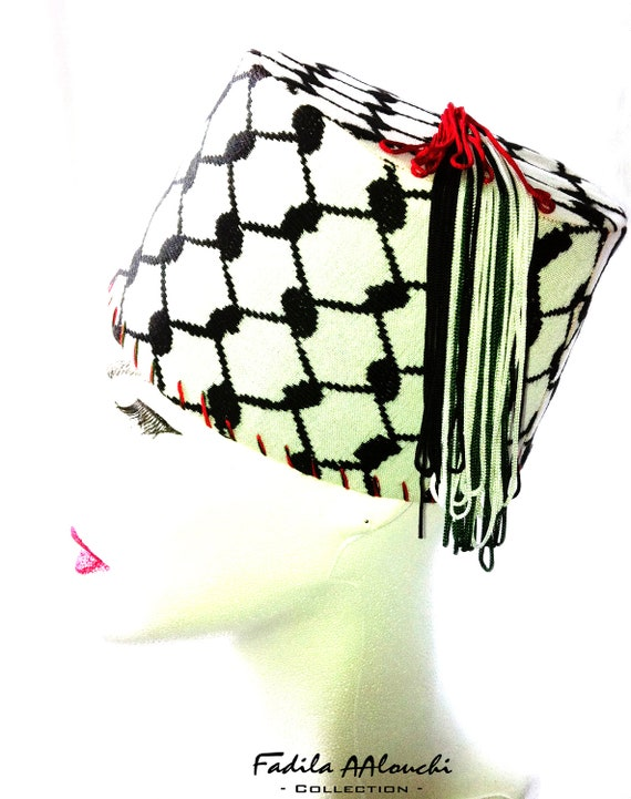 Traditional Hat Tarbouche Fez Kuffieh / traditional Hat Tarbouch Keffiyeh