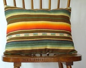 Woven Ikat Stripe Throw Pillow 15 x 18 inches (38.1cm x 45.72 cm)