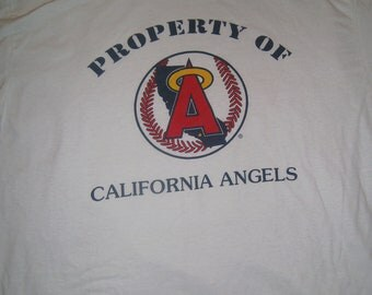 California Angels Coca Cola Anaheim MLB XL 55/45 Cotton Blend White T Shirt