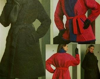 "Coat Reversible, Scarf. Belt & Hatby Koos Van Den Akker Vogue Pattern 1070 Uncut  Sizes 4-6-8-10-12-14   Bust 29.5 to 36"""