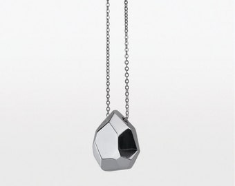 Facets Small Briolette Gem Nekclace - Sterling silver