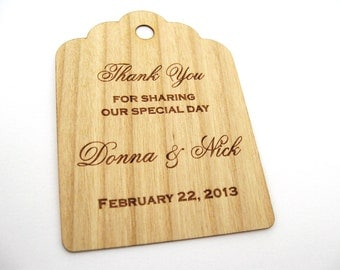 Personalized Wedding Tags (100) / Gift Tags / Wooden Tags / Wedding Favor Tags / Gift Tags / Hang Tags / Wood tags / Custom tags