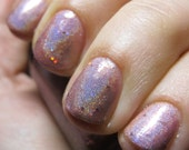 Layer Cake Nail Polish - MINI - sparkly pink linear holographic polish