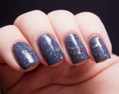 Between Two Worlds Nail Polish - lilac jelly with multicolor earth tone glitter