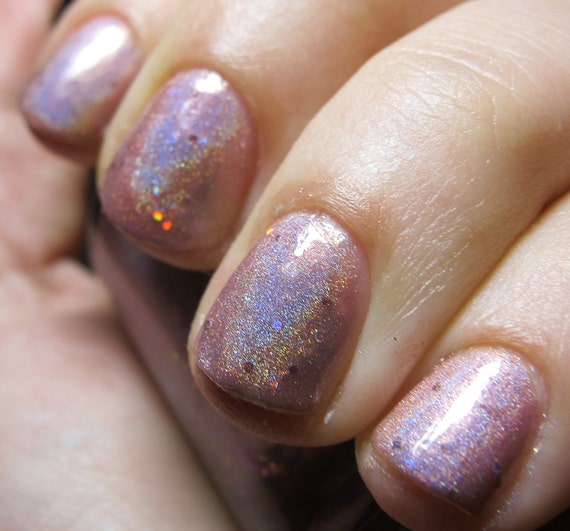 Layer Cake Nail Polish MINI Sparkly Pink By FanchromaticNails