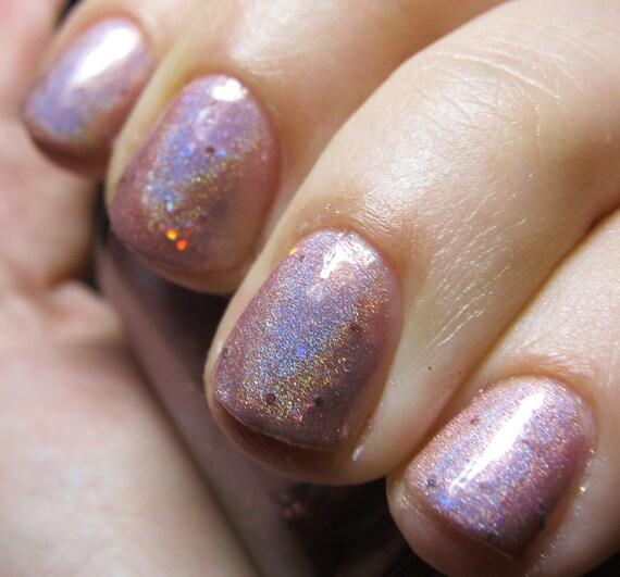 Nail Polish Layers: Layer Cake Nail Polish MINI Sparkly Pink By FanchromaticNails