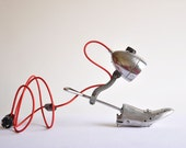 Light my Step. Handcrafted vintage industrial desk lamp