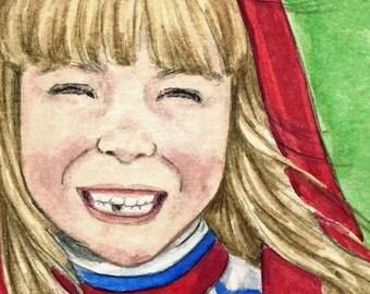 """Children's Art Print  """" First Tooth"""" - Unframed Print"""