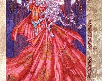 "Fantasy Celtic Art Morrigan Na Badb 8x11"". Ireland, Goddess, Queen, Princess, Irish, Fine Art Print, Witch, Warcraft, Witchcraft, Sexy."