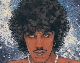 "Philip Lynott Saga of the Ageing... 8x11"" Print. Vintage, Retro, Pop, Album Art, Rock, Metal."