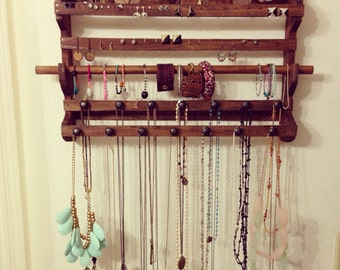 Wooden Jewelry Display Holder