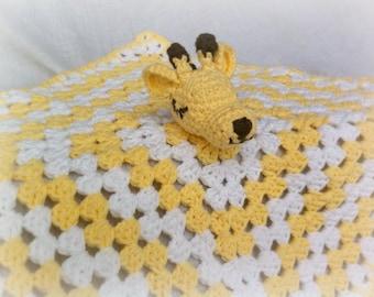 RTS Giraffe Lovey, Baby Crochet Giraffe, Giraffe Baby Blanket, Giraffe Baby Lovey, Baby Shower Gift, Infant Giraffe Lovey, Toddler Blanket