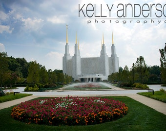 Washington DC LDS Temple, Maryland / 12x18 or Custom Size Lustre Print (other sizes available-see below)