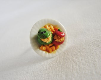 """Greek Food """"Gemista"""" - Stuffed Tomatoes and Green Peppers Ring"""