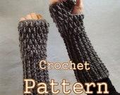 PDF Crochet Pattern - Spike Stitch Fingerless Mittens - Instant Dowload