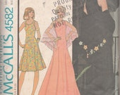 Vintage McCall's sewing pattern 4582 from 1975. misses' dress and stole.