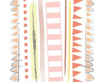 Orange Lines graphic print