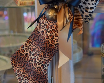 Leopard Animal Print Stocking
